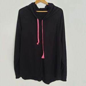 Bobbie Brooks 3X Black Tunic Cowl Style Neck